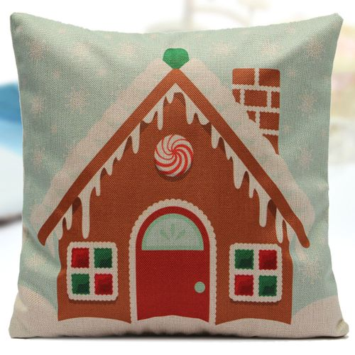 Merry Christmas Santa Tree Snowman Pillow Case Cushion Cover