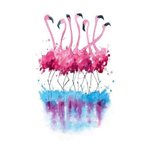 Diy Diamonds Full Of Flamingo P148 Embroidered Fashion