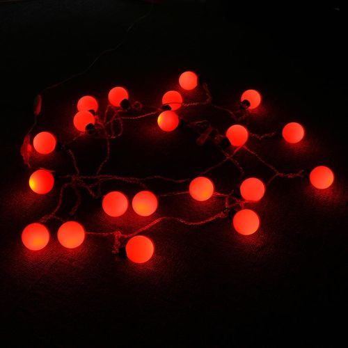 Led Lights Room Decoration Lights Creative Colorful Light Bulbs Outdoor Waterproof Layout Birthday Surprise 4 Cm Ball Red EU