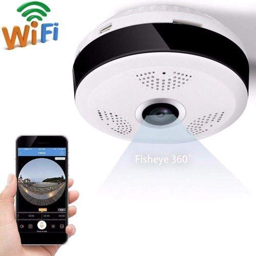 360 Degree Panoramic Wide Angle Mini Cctv Camera 2mp Hd Wireless Smart Ip Camera Fisheye Home Security V380 Wifi Camera, AU