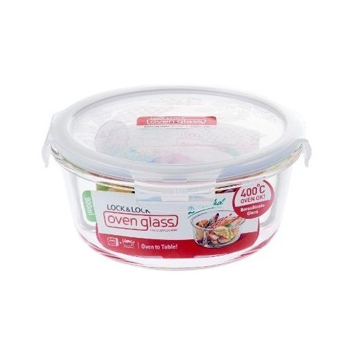 Microwave Glass Kitchen Dining Plate With Cover 900Ml