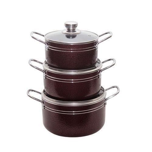 3 Sets Non Stick Pots -Red