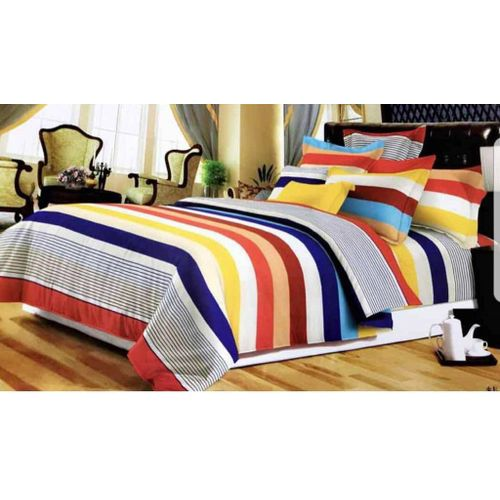 Bed Sheet With 2 Pillow Cases - Multi