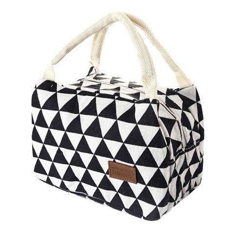 Dtrestocy For Women Kids Men Insulated Canvas Box Tote Bag Thermal Cooler Food Lunch Bags