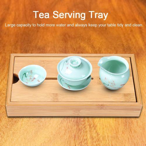 Sweetbaby Wooden Kongfu Tea Water Storage Serving Tray