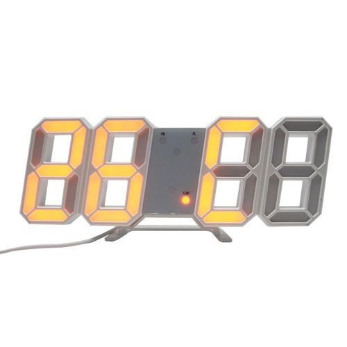 3D LED Digital Alarm Clock,Wall Clock Alarm Watch