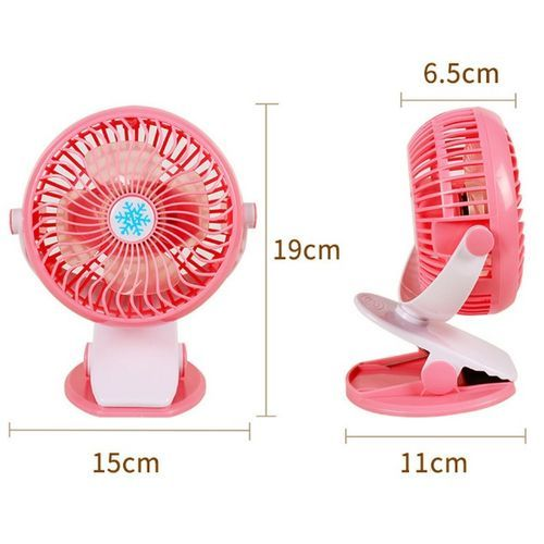 Rechargeable Mini Table Clip Fan For Baby Cot- Home Office- School