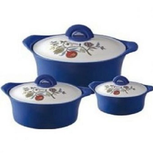 Master Chef Insulated Hot-Cold Food Serving Dish Flask - 3 PCS