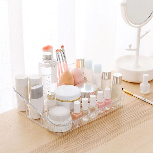 Clear/Coffee/Pink/Gray Makeup Cosmetic Organizer Holder Display Case Storage Box