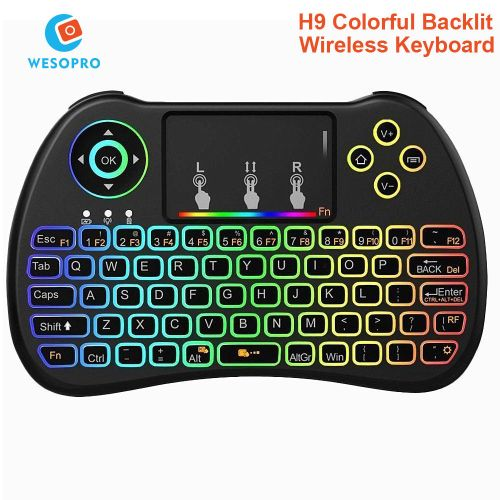 H9 Mini Keyboard Backlight Function With Touchpad For Smart TV Android TV Box Mini PC HTPC Projectors WOEDB