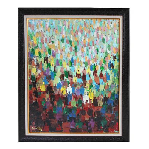 Human Traffic Acrylic On Canvas Art Paint Work 80 By 107cm