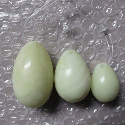 3pcs Natural Jade Yoni Eggs Women Pelvic Kegel Exercise Tightening