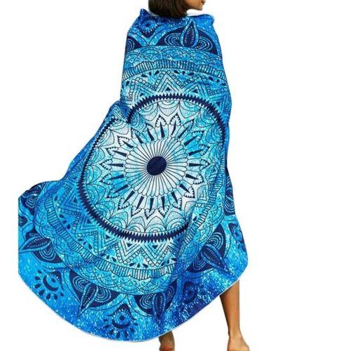 Round Hippie Tapestry Beach Throw Towel Yoga Mat Bohemian Featur