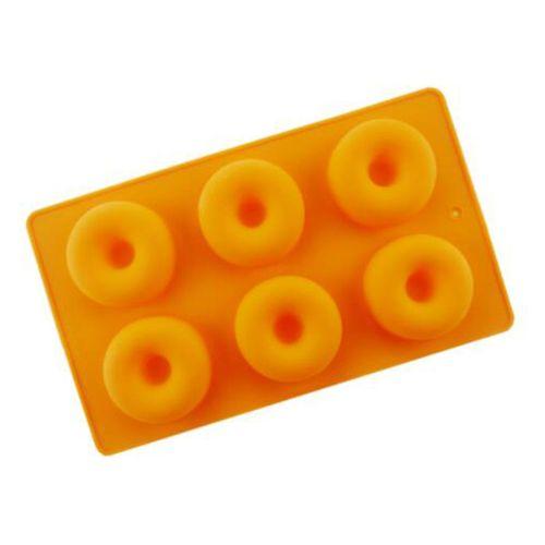 Donut Shape Silicone Cake Mold Baking Mold Orange