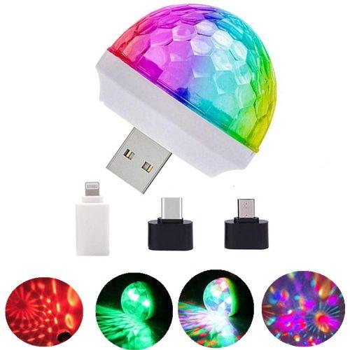 USB Mini Disco Magic Ball Stage DJ Lights USB Power Party
