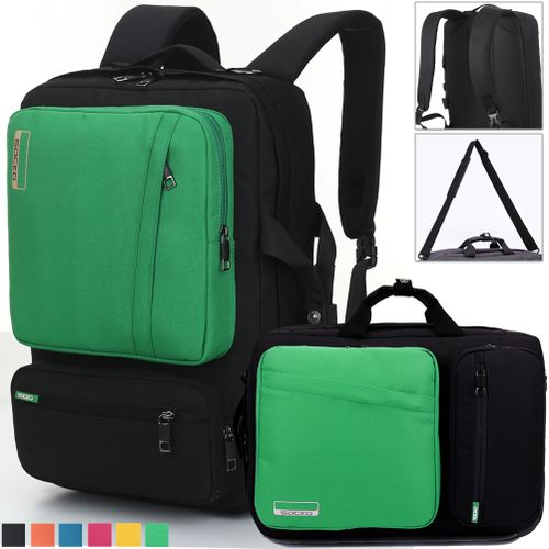 Convertible Laptop Backpack,Multi-functional 17.3 Inch-green