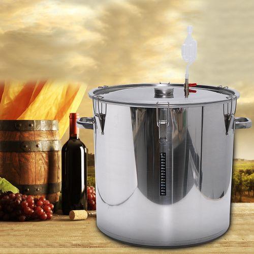 12/36/50/70/100L Stainless Steel Fermenter Barrel Home Brew Wine Fermentation
