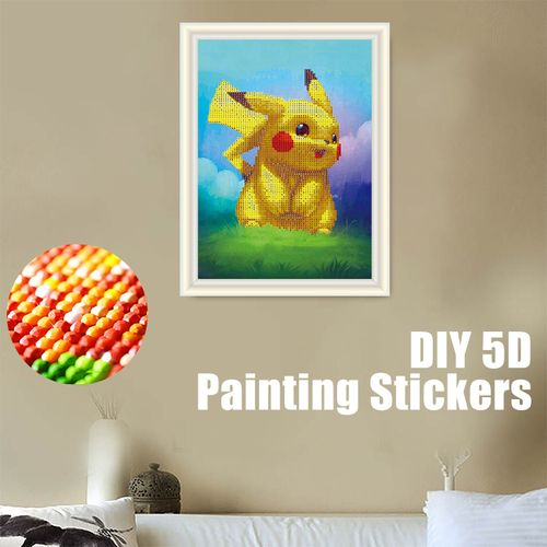 30x40CM DIY 5D Full Diamond Embroidery Painting Kits Arts Crafts Home Wall Decor Cartoon Pikachu Painting
