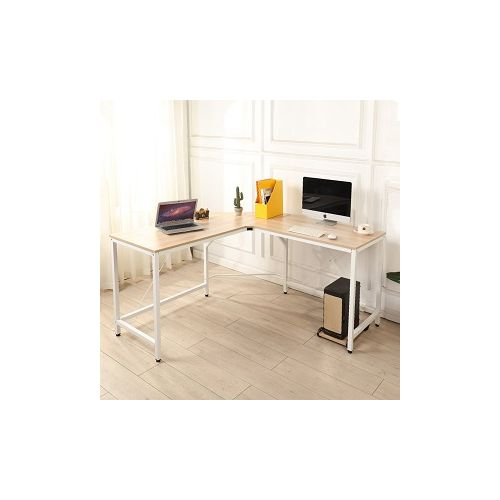 L-Shaped Desk (light Oak) (Delivered Within Lagos)