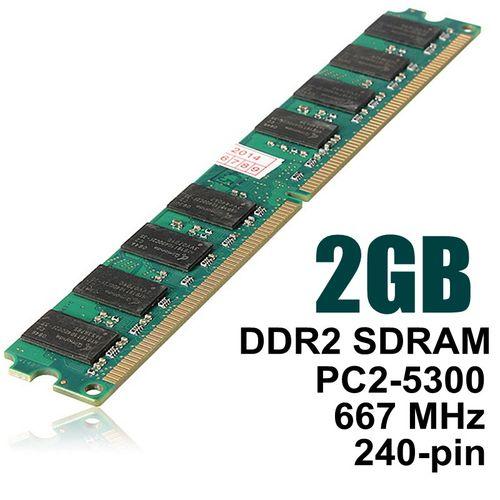 2GB DDR2 PC2-5300 5300U DDR2-667 MHZ MEMORY DIMM PC DESKTOP RAM 240 PIN