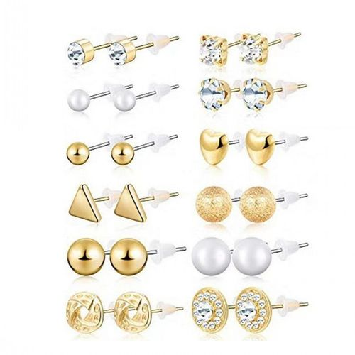 12 Pairs/Set Earrings Women Fashion Accessories Jewelry