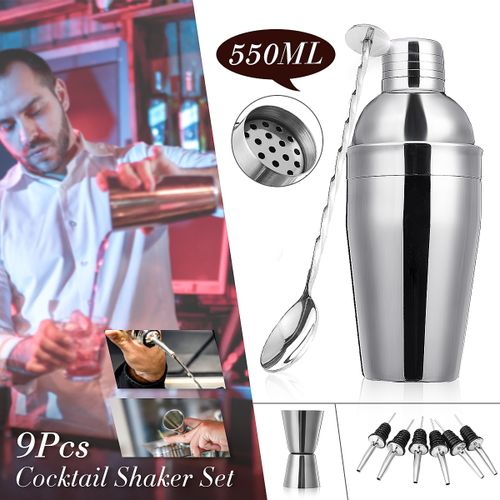 550ML Stainless Steel Bar Cocktail Shaker Mixer
