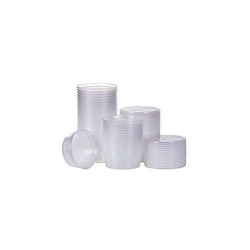 Plastic Salad Bowls - 50 Pieces - White