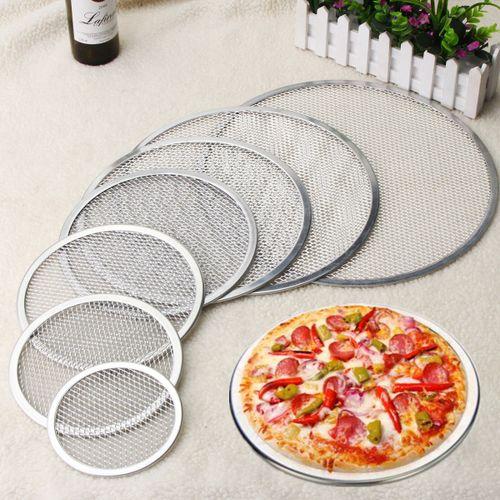 6-16'' Aluminium Mesh Pizza Net Screen Seamless Rim Baking Tray Bakeware Tool