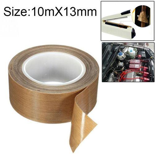 Teflon High Temperature Resistant Cloth Tape Sealinghine Heat Insulation Tape, Size: 10m X 13mm