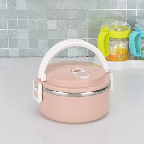 1/2/3/4 Layers Stainless Steel Thermal Bento Insulated Food Container Lunch Box #1 Layer