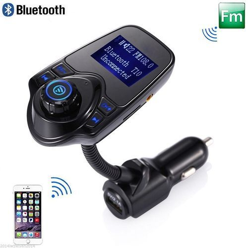 Car MP3 Audio Player Bluetooth FM Transmitter Wireless FM Modulator Car Kit HandsFree LCD Display USB Charger