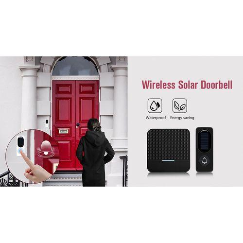 XIAOMI Youpin FKD009 Wireless Solar Doorbell Remote Wireless Doorbell Waterproof Doorbell 2LED Night Light Doorbell(EU Plug)