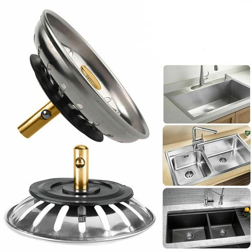 Sink Strainer Stainless Steel Sewer Drainer Basin Stopper