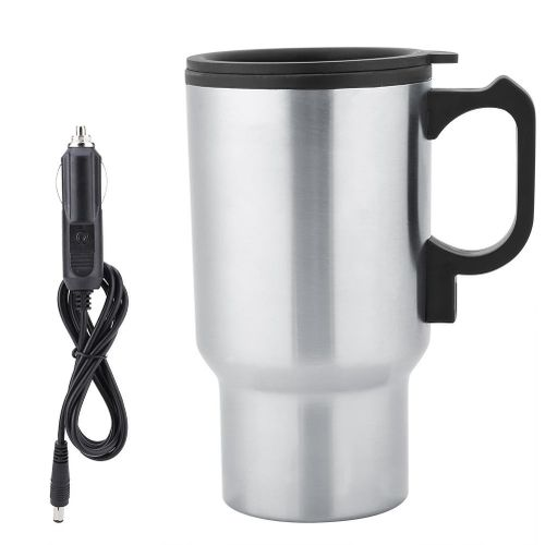 12V 450mL Stainless Steel Heating Cup Travel Mug Electric Car Heating Coffee Milk Cup Hot Water Bottle
