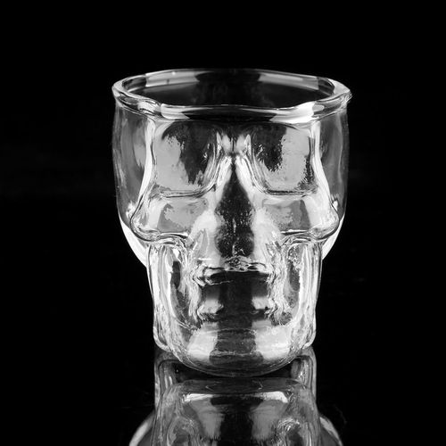 Transparent Skull Head Shot Glass Cup For Vodka Whiskey Wine Home Drinking Cup