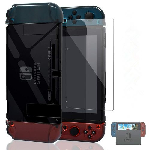 Ponnky Dockable Case For With Nintendo Switch-Clear Black