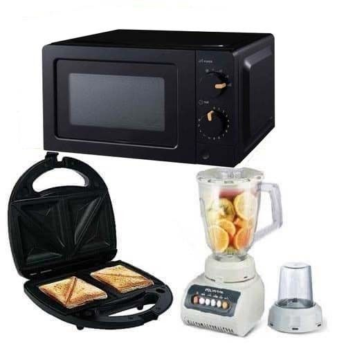 Microwave Oven With 20Liters + Blender-999 + Toaster