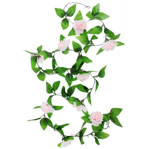 Hanging Artificial Vine Silk Rose Flower Decoration
