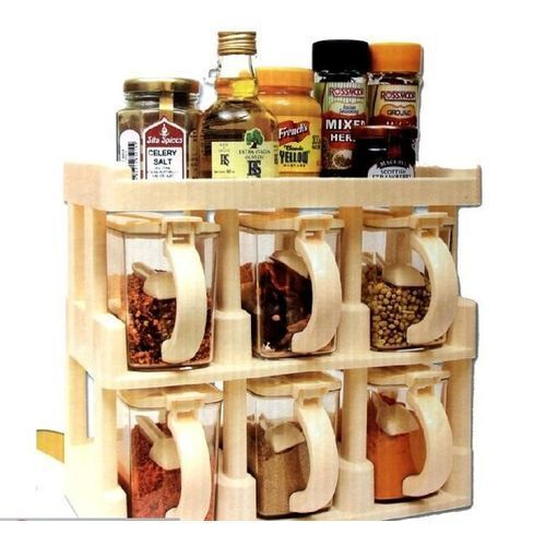 3 Tier Spice Rack With 6pcs Spice Jars