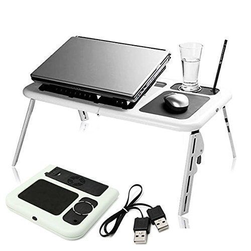 E-Table Laptop Stand With Cooling Fan