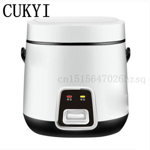 CUKYI 1.2L Mini Household Rice Cookers For 1-2 Persons Cute Shape, White Pink Kitchen Helper Cooking Machine