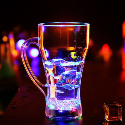 LED Light Cup Handle Colorful Luminous Color Water Cup