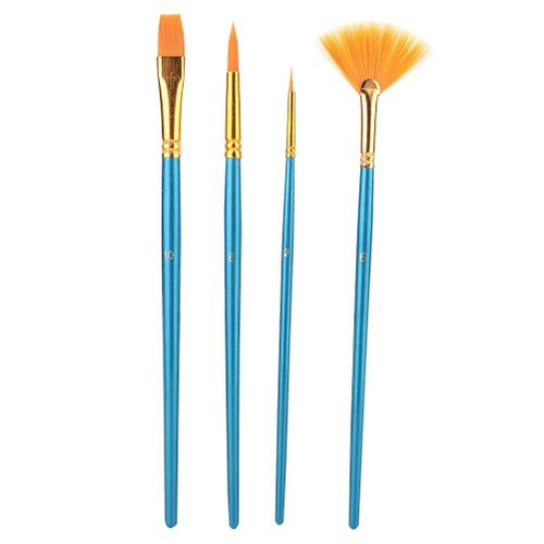 Qianmei 4pcs Nylon Hair Art Painting Brushes Painting Brushes Artist Watercolor Brush Pen Set