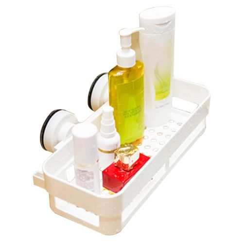 Bathroom Shelf Hanging On The Wall Suction Cup Without Perforations Storage Basket Toilet Kitchen Storage Shelf