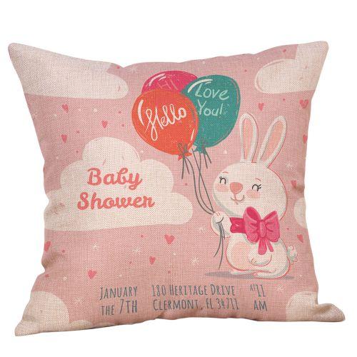 Fashion Easter Cotton Square Rabbit Throw Pillow Case Waist Cushion Cover Home Decor