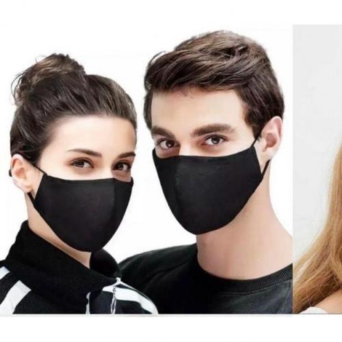 3 Pieces Reusable Nose Masks - Black