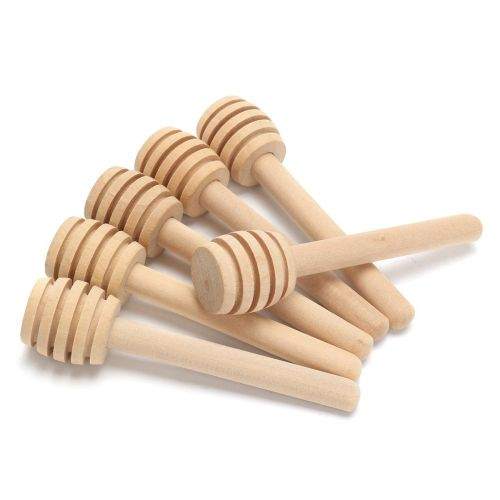 Honey Dipperz 50 PACK 8cm Long Wooden Honey Dipper Stick Bulk Lot Wholesale Set