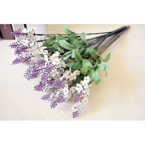 Dtrestocy 2PC Artificial Fake Flower Bush Bouquet Home Wedding Decor