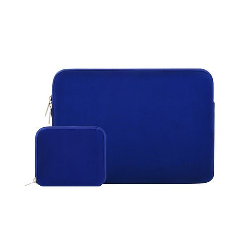 Mosiso Water Repellent Lycra Sleeve Bag Cover For 11-11.6 Inch MacBook Air, Ultrabook Netbook Tablet With Small Case, Royal Blue