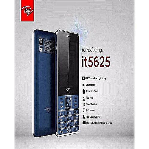 "it5625 - 2.8"", 3 Sim Cards - Real Java ,Battery 2500 - Facebook - Dark Blue"
